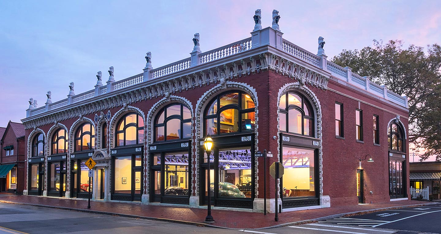 A historic storefront along one of Newport's iconic streets